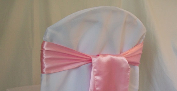 Pink Sash on Banquet Chair Cover