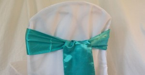 Chair cover rental and sash rental for your Chicago area wedding